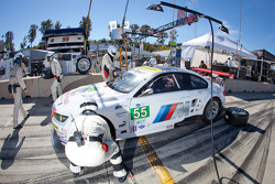 Pit stop for #55 BMW Team RLL E92 BMW M3: Bill Auberlen, Jorg Muller, Jonathan Summerton