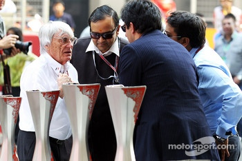 Bernie Ecclestone, CEO Formula One Group, with circuit management