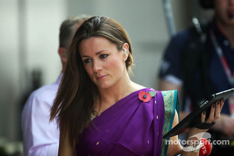 Natalie Pinkham, Sky Sports Presenter at Indian GP