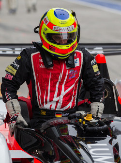 Pierre Kaffer getting into the Pecom Oreca Nissan