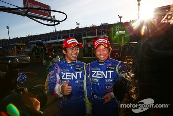 GT500 pole winners Yuji Tachikawa, Kohei Hirate