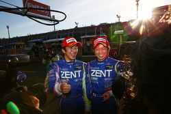 GT500 pole winners Yuji Tachikawa, Kohei Hirate