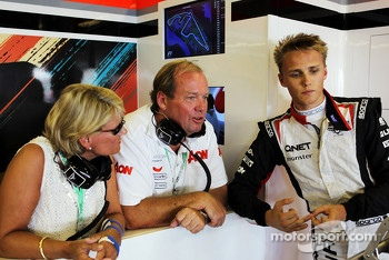 Max Chilton, Marussia F1 Team Reserve Driver with his mother and father Grahame Chilton