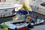 Australian themed boat in the Marina