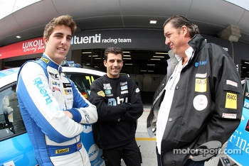 Pepe Oriola, SEAT Leon WTCC, Tuenti Racing Team and his father