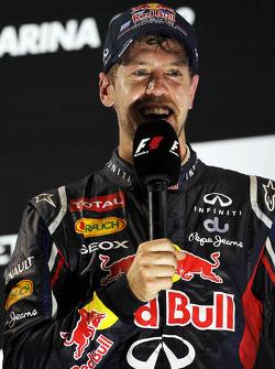 Sebastian Vettel, Red Bull Racing on the podium