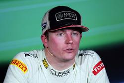 Race winner Kimi Raikkonen, Lotus F1 Team in the FIA Press Conference