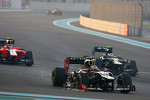 Romain Grosjean, Lotus F1 Team on his first lap