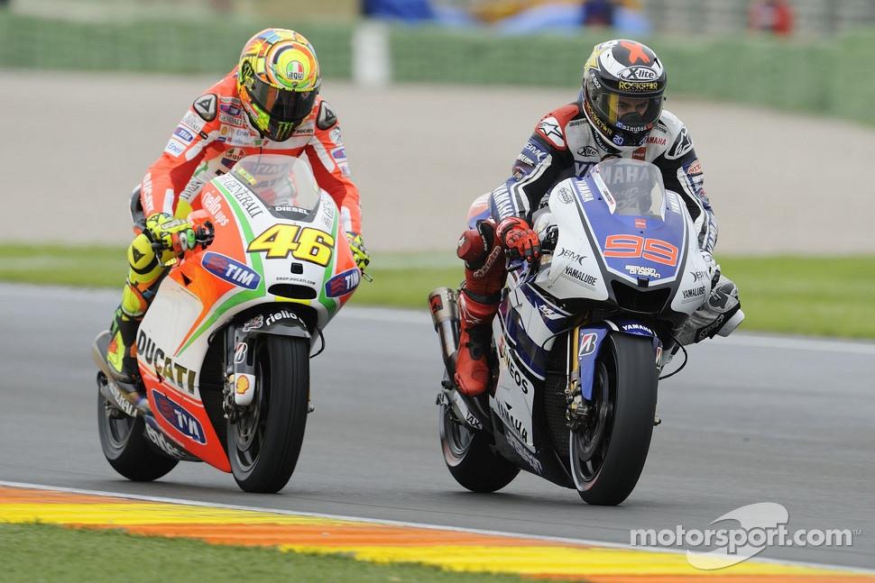 MotoGP champions Valentino Rossi and Jorge Lorenzo