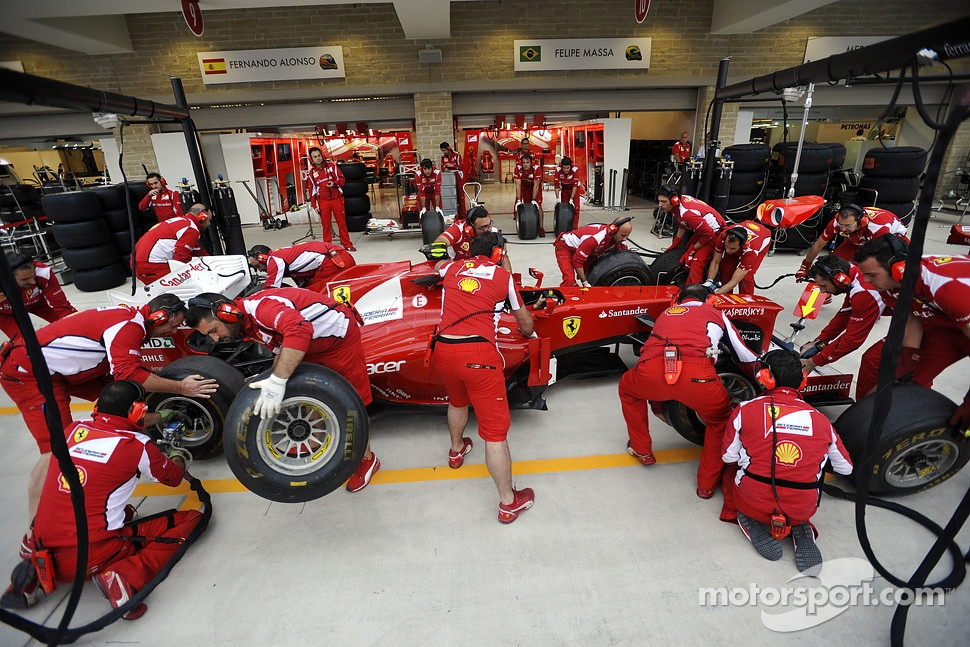 Scuderia Ferrari practice pit stops