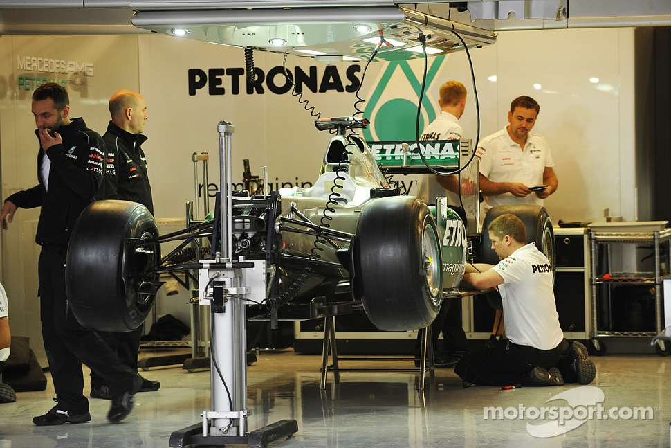 Mercedes AMG F1 garage