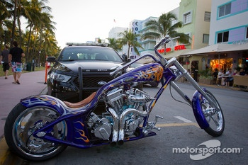 A spectacular chopper on Ocean Drive
