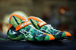 The Alpinestars boots of Nico Hulkenberg, Sahara Force India F1, designed by a competition winner