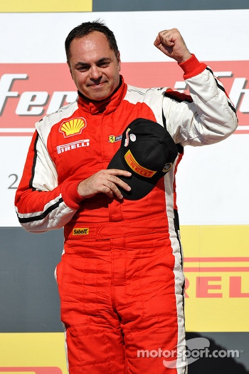 Podium: race winner Emmanuel Anassis