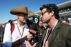 Will Buxton, Speed TV Presenter with Patrick Dempsey, Actor on the grid