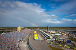 A spectacular rainbow during pre-race ceremony