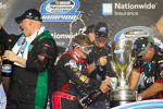 Championship victory lane: 2012 NASCAR Nationwide Series champion Ricky Stenhouse Jr., Roush Fenway Ford celebrates