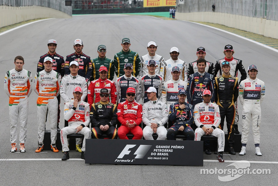 Drivers end of year group photograph