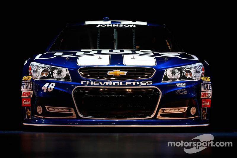 Jimmie Johnson's 2013 Chevrolet SS Sprint Cup car