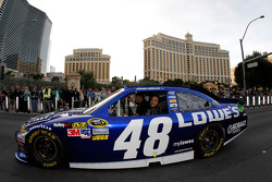 Jimmie Johnson during the NASCAR Victory Lap at Las Vegas