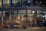 2012 champion Bruno Spengler does burnouts in the streets