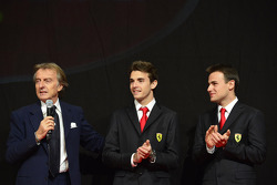 Luca di Montezemolo with Jules Bianchi, Davide Rigon at the Ferrari Gala