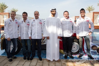 Citroën Total Abu Dhabi World Rally Team launch with Yves Matton, Mikko Hirvonen, Daniel Sordo and Sébastien Loeb