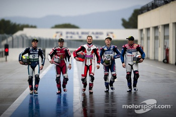 Pol Espargaro, Randy Mamola, Michael Schumacher, Keith Flint and John McGuinness