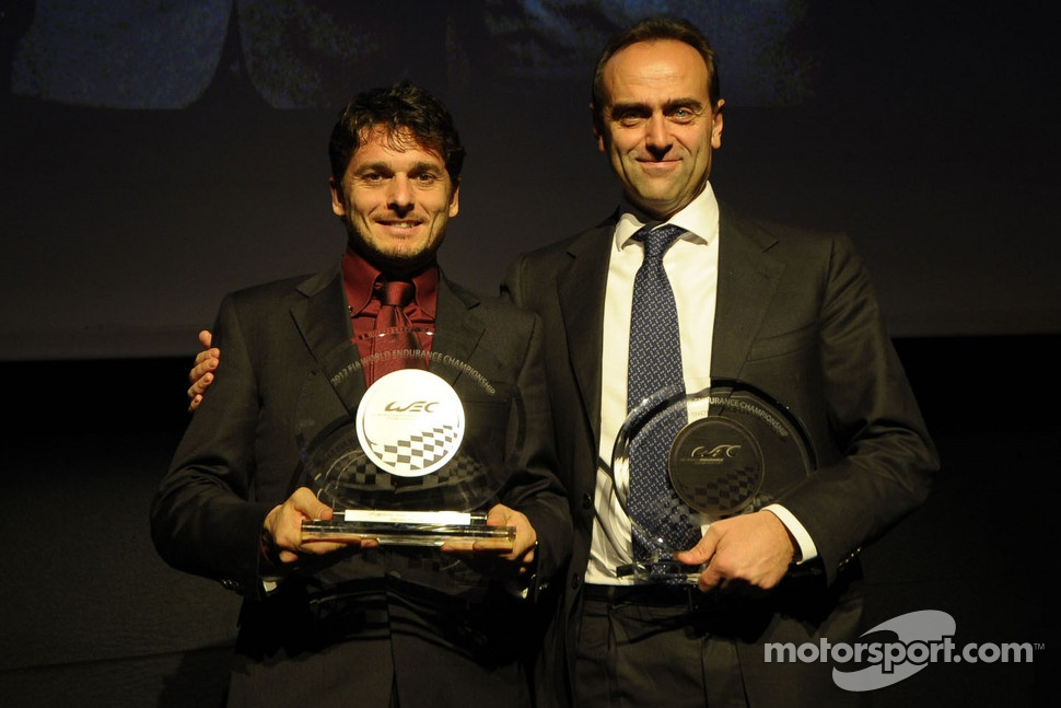 GTE-Pro champion, Giancarlo Fisichella with Amato Ferrari, AF Corse