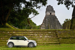 The MINI Cooper visits Mayan ruins in Tikal, Guatemala