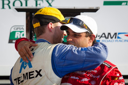 DP victory lane: class and overall winners Juan Pablo Montoya and Memo Rojas celebrate