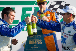 DP podium: champagne for Memo Rojas and Scott Pruett