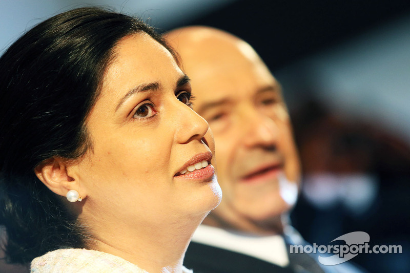 Monisha Kaltenborn, Sauber Team Principal and Peter Sauber, Sauber President of the Board of Directors