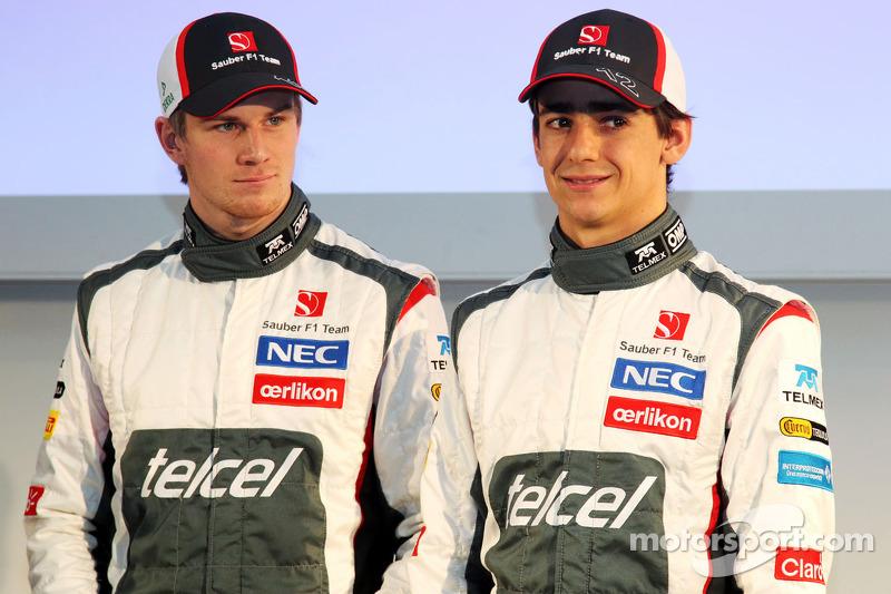 Nico Hulkenberg, Sauber and team mate Esteban Gutierrez, Sauber