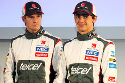 Nico Hulkenberg, Sauber and team mate Esteban Gutierrez, Sauber
