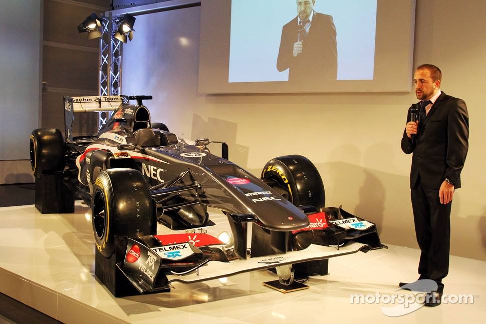 Matt Morris, Sauber Chief Designer with the new Sauber C32