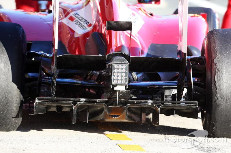 Ferrari F138 rear diffuser