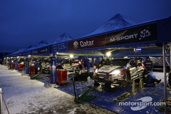 Qatar M-Sport team area