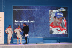 Podium: second place Sébastien Loeb and Daniel Elena