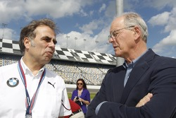 Ludwig Willisch, Head of BMW North America and James C. France, NASCAR Vice Chairman/Executive Vice President