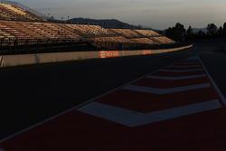 Circuit at sunset
