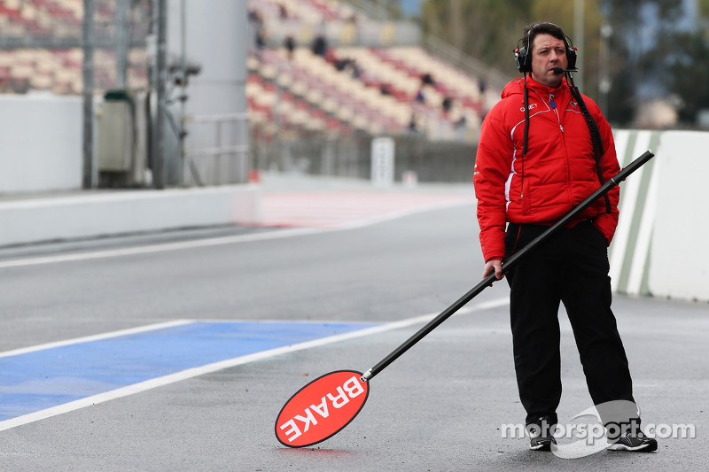 Marussia F1 Team pit stop lollipop