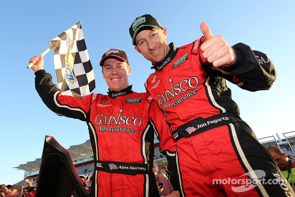 Race winners Alex Gurney and Jon Fogarty