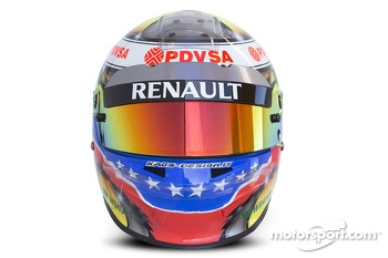 The helmet of Pastor Maldonado, Williams