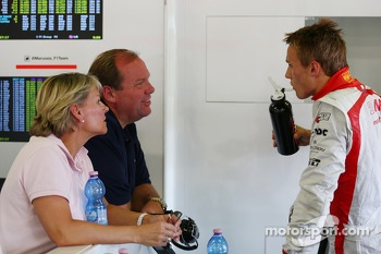 Max Chilton, Marussia F1 Team with his parents