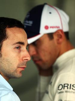 Nicolas Todt, Driver Manager and Pastor Maldonado, Williams