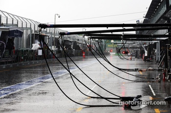 Heavy rain postponed qualifying until Sunday morning