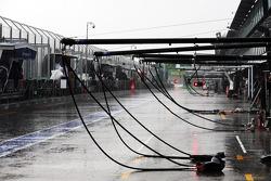 Heavy rain postponed qualifying until Sunday morning