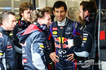 Christian Horner, Red Bull Racing Team Principal and Mark Webber, Red Bull Racing