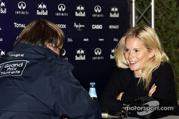 Hanna Prater, the girlfriend of Sebastian Vettel, Red Bull Racing